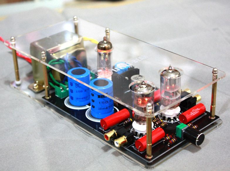 1PCS High quality 6N3+6Z4 tube valve Pre-AMP Class A audio stereo preamplifier include transformer G2-007