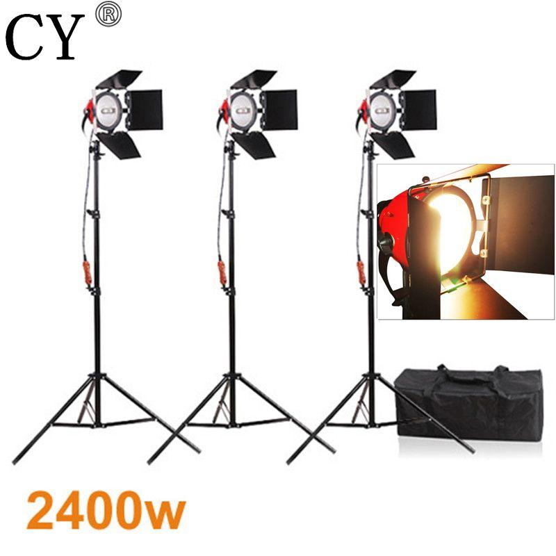 CY Fotografie Studio Kontinuierliche Beleuchtung Kits 800 watt Video Rot Kopf Kontinuierliche Licht * 3 mit 200 cm Licht Stehen * 3 foto Studio Set