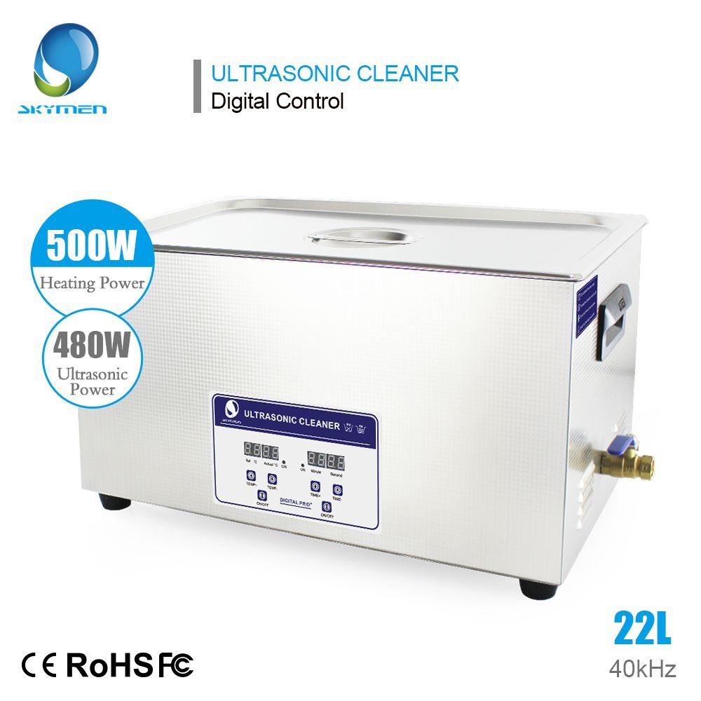 SKYMEN Digital 22L 480 watt Ultraschall Reiniger Beheizten Timer Edelstahl Korb Industrielle Teile Medizinische Labor Instrumente Reinigung Bad