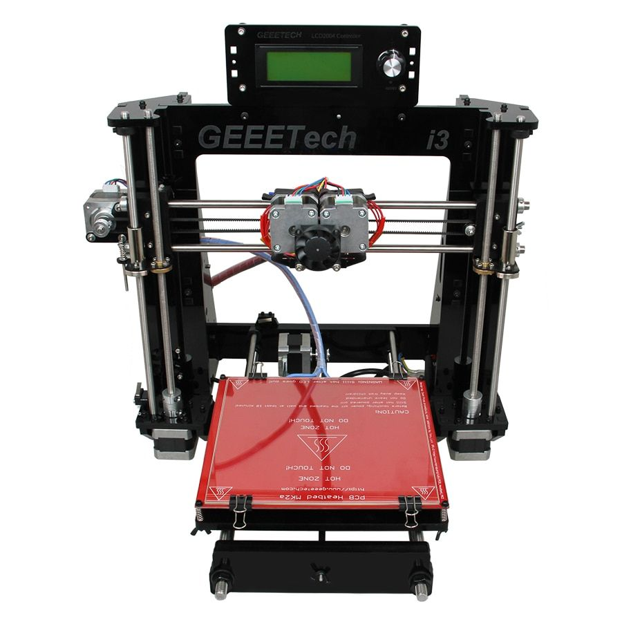 Geeetech I3 Pro C Imprimante 3D Double Extrudeuse Prusa Deux-Couleur Impression Haute Résolution Impressora LCD2004 GT2560 Contro Conseil