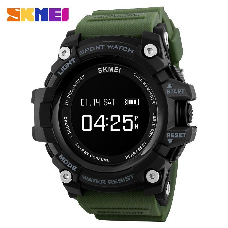 Fashion Smart Watch Men Pedometer Heart Rate Monitor Bluetooth Watch SKMEI Mens Watches Top Brand Luxury Digital Sports Watches