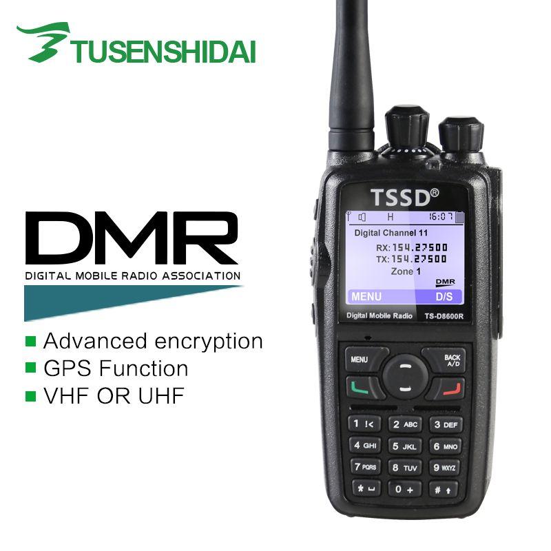 Brand New Mono Band VHF or UHF DMR Digital Portable Two Way Radio TS-D8600R
