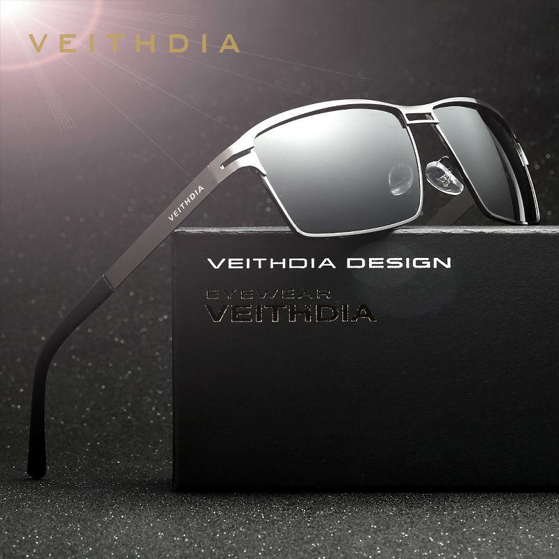VEITHDIA Brand Stainless Steel Men's Sun Glasses Polarized Oculos <font><b>masculino</b></font> Male Eyewear Accessories Sunglasses For Men 2711