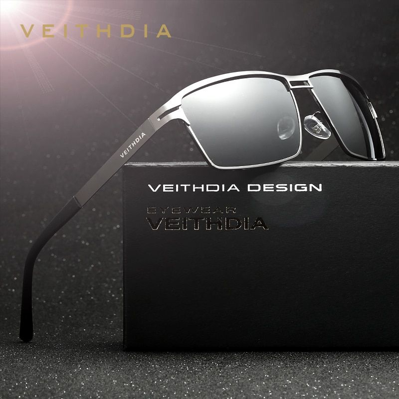 VEITHDIA Brand Stainless Steel Men's Sun Glasses Polarized Oculos masculino Male Eyewear <font><b>Accessories</b></font> Sunglasses For Men 2711