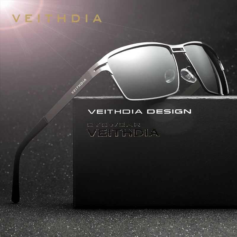 VEITHDIA Brand Stainless <font><b>Steel</b></font> Men's Sun Glasses Polarized Oculos masculino Male Eyewear Accessories Sunglasses For Men 2711