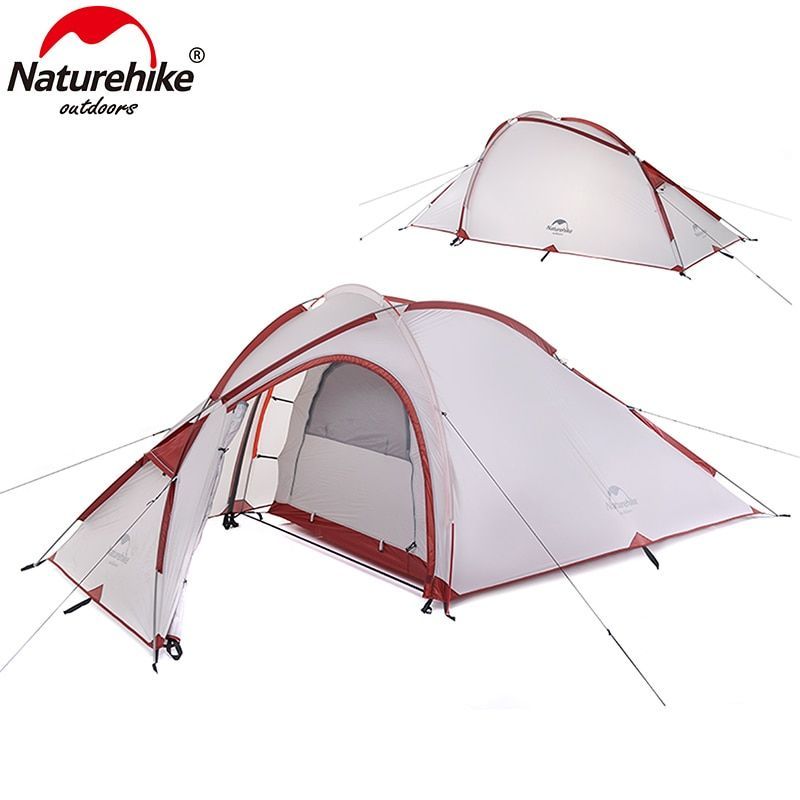 NatureHike Hiby Series Family Tent 20D/210T Ultralight Fabric For 3 Person With Mat NH17K230-N