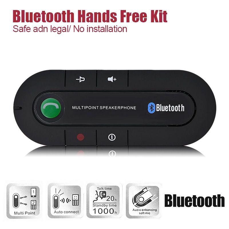 Wireless Bluetooth Slim Magnetic Handsfree Car Kit Speaker Phone Visor Clip BT850
