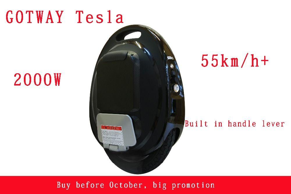 GOTWAY Tesla 16 zoll Elektrische einrad Balance auto einzelne rad roller 2000 Watt motor 850/1020WH, leben 60-80 km, geschwindigkeit 55 km/std +