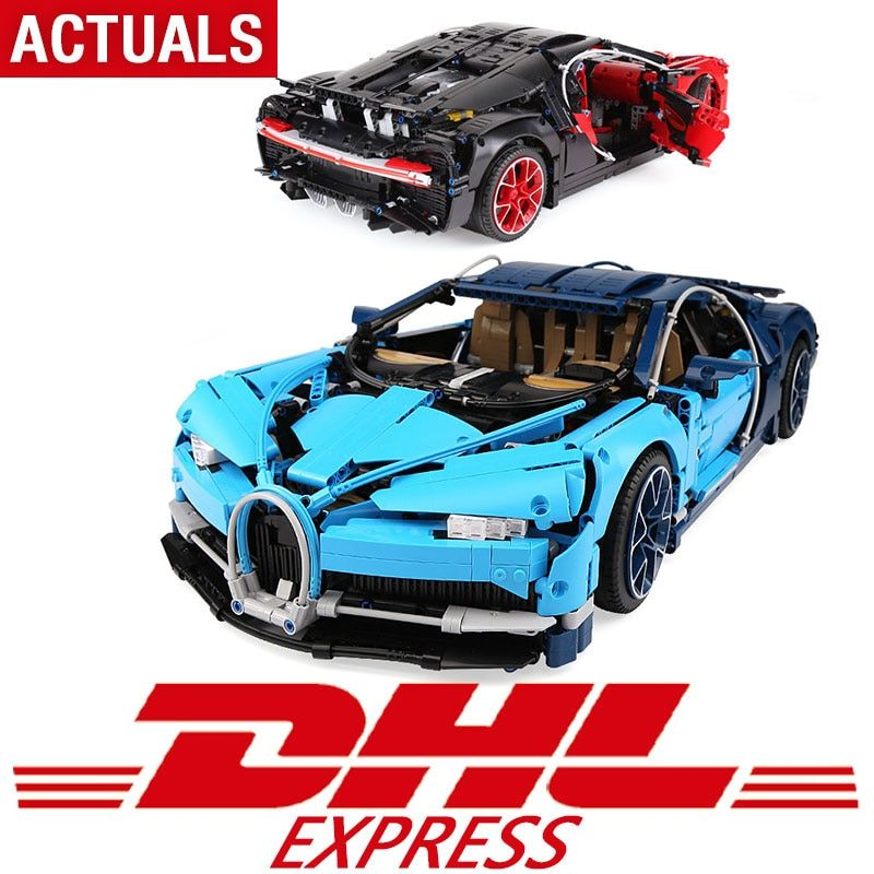 DHL 4031pcs Compatible with Legoing Technic 42083 Bugatti Chiron Racing Car Model Building Blocks Bricks Toys For Kids Gifts