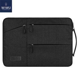 WIWU impermeable bolsa de ordenador portátil para MacBook Pro 13 15 bolsa de aire para Xiaomi Notebook Air 13 golpes Nylon Laptop manga 14 15,6