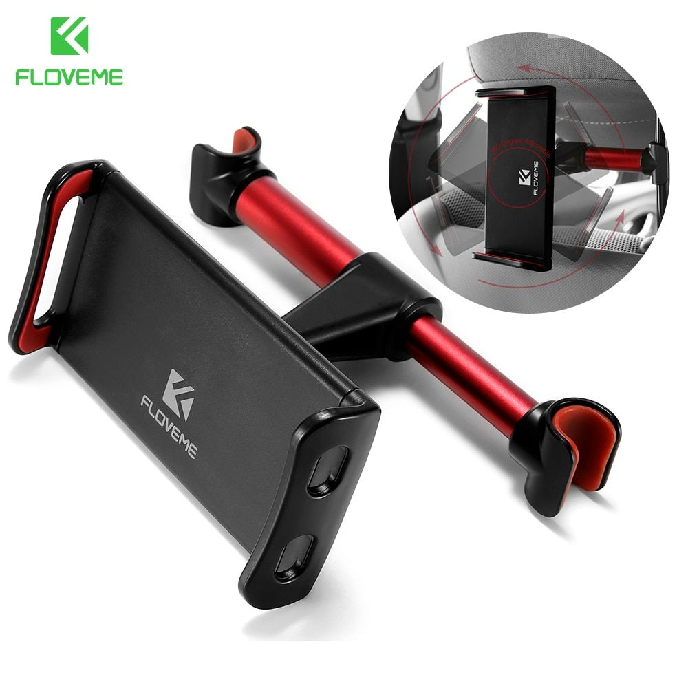 FLOVEME Universal Back Seat Tablet Mount Car Phone Holder For iPhone 8 X 4-11 inch 360 Adjustable Phone Holder For iPhone iPad