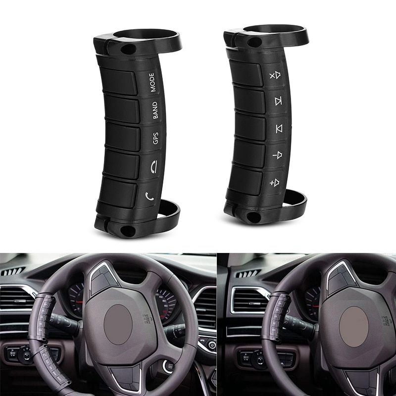 Universal Car Steering Wheel Controller Buttons GPS Music Control Portable Hand up Answer Remote Control 2 din Car Kit Styling
