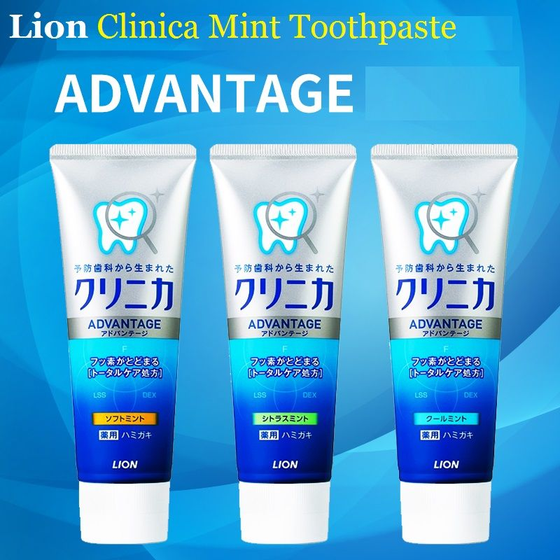 3PCS Japan Lion Clinica Mint Toothpaste Dental daily use Whitening Strengthen teeth Remove smokers stains dirt, plague bad smell
