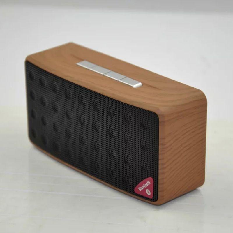 Portable Mini Bluetooth Speaker Wooden Bluetooth Receiver Subwoofer Hands Free Speaker with TF Card USB Loudspeaker