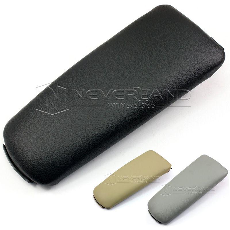 New Leather Center Console Armrest Cover Lid for Audi A4 B6 4 Door 2002 2003 2004 2005 2006 2007 Black Grey Beige Wholesale D05