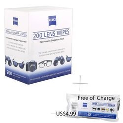 ZEISS Lens Cleaning 220 Wipes Eye Glasses Computer Optical screen Lense Cleaner 6
