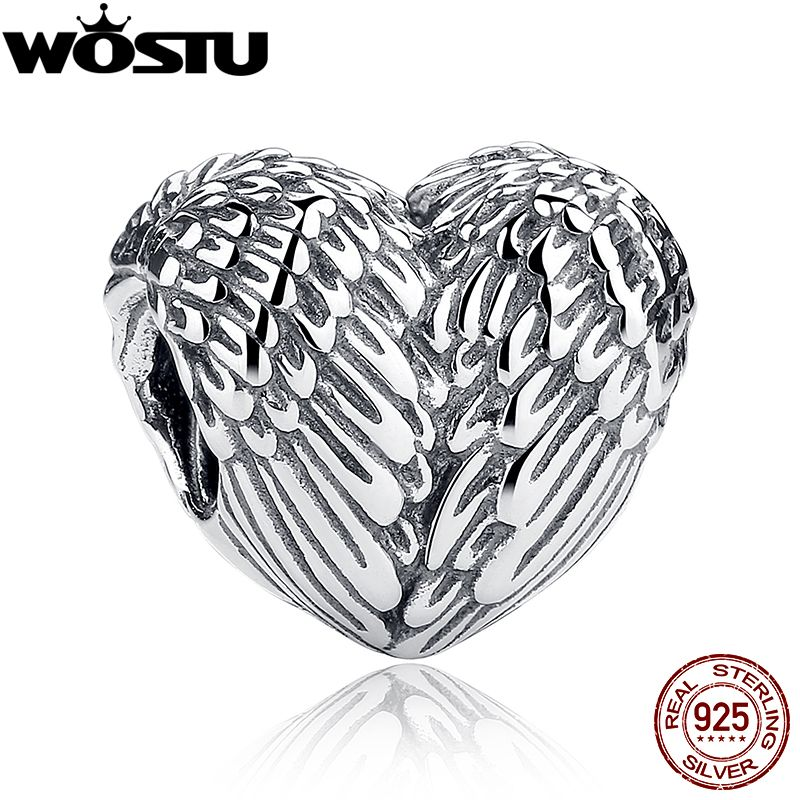 925 Sterling Silver Angelic Feathers Original Charm Fit wst Bracelet Pendant Authentic Jewelry Christmas Gift