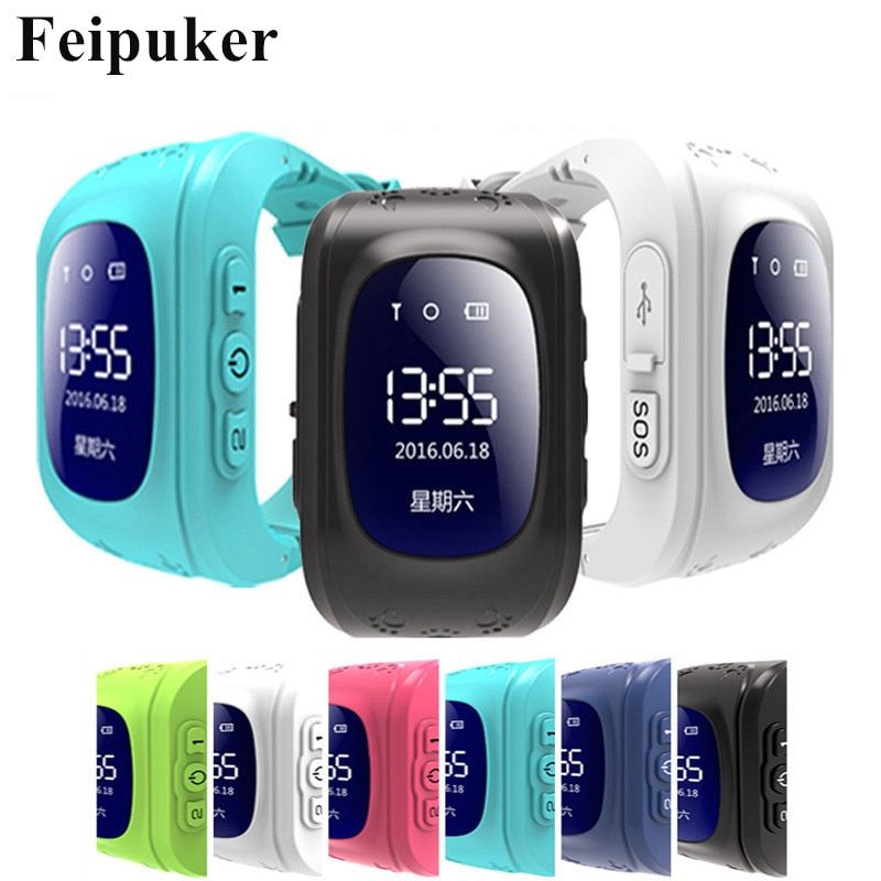 CHAUDE montre Smart watch Enfants Enfant Montre-Bracelet Q50 GSM GPRS GPS Locator Tracker Anti-Perte Smartwatch Enfant Garde pour iOS android