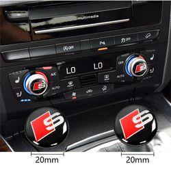 2 pcs sline voiture center contrôle autocollant de voiture intérieur Autocollant pour Audi A4 A5 A6 A7 A8 S3 S4 S5 S6 S7 S8 Q3 Q5 Q7 TT S voiture de coiffure