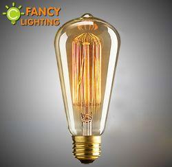 Retro lâmpada st64 edison lâmpada do vintage e27 lâmpada incandescente de 110 v 220 v luzes do feriado 40 w 60 w filamento lampada da lâmpada para a decoração home