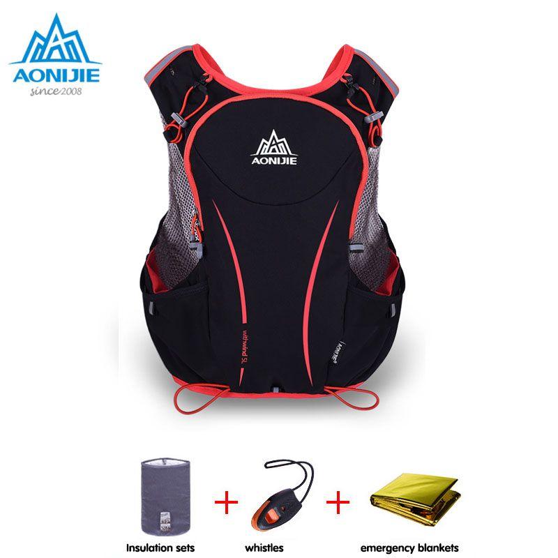 AONIJIE 5L Outdoor-sportarten Rucksack Frauen/Männer Marathon Trink Weste Pack für Austausch Radfahren Wandern Wasser Tasche