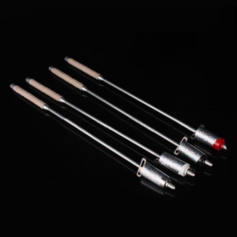 Flaming torche à canne tours de magie, noir rouge blanc argent couleurs métal apparaissant canne scène, Illusions, accessoires 81329