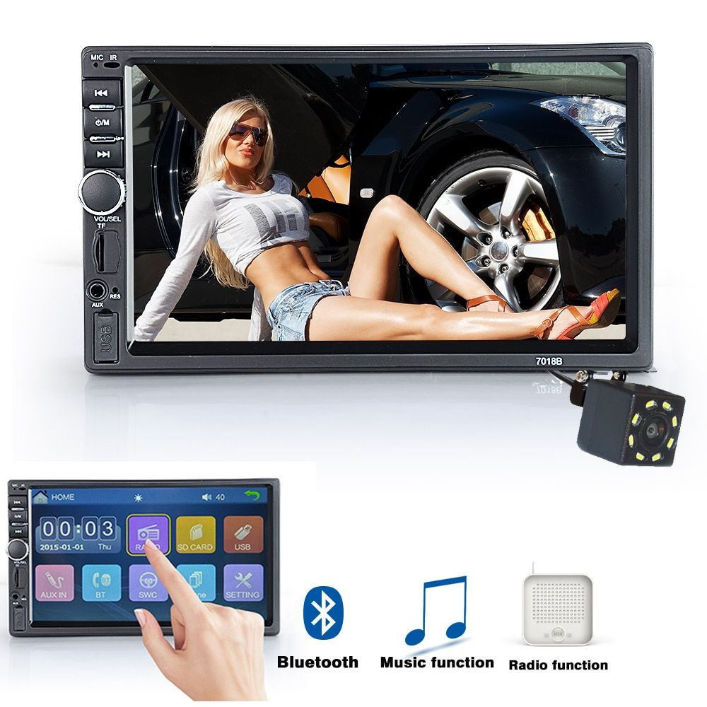 Viecar 2 Din Car Radio Bluetooth HD 7