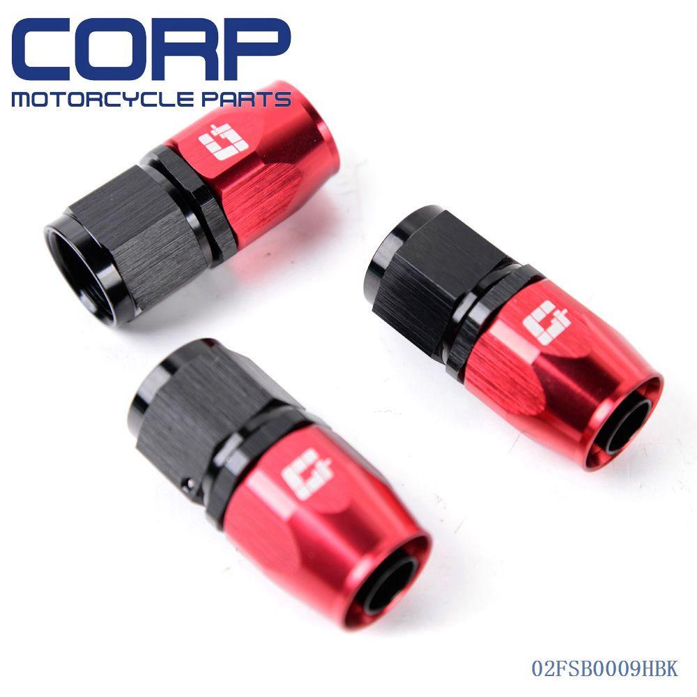 3PCS Universal AN10 10 AN Straight Fuel Swivel Fitting Hose End Adaptor Black