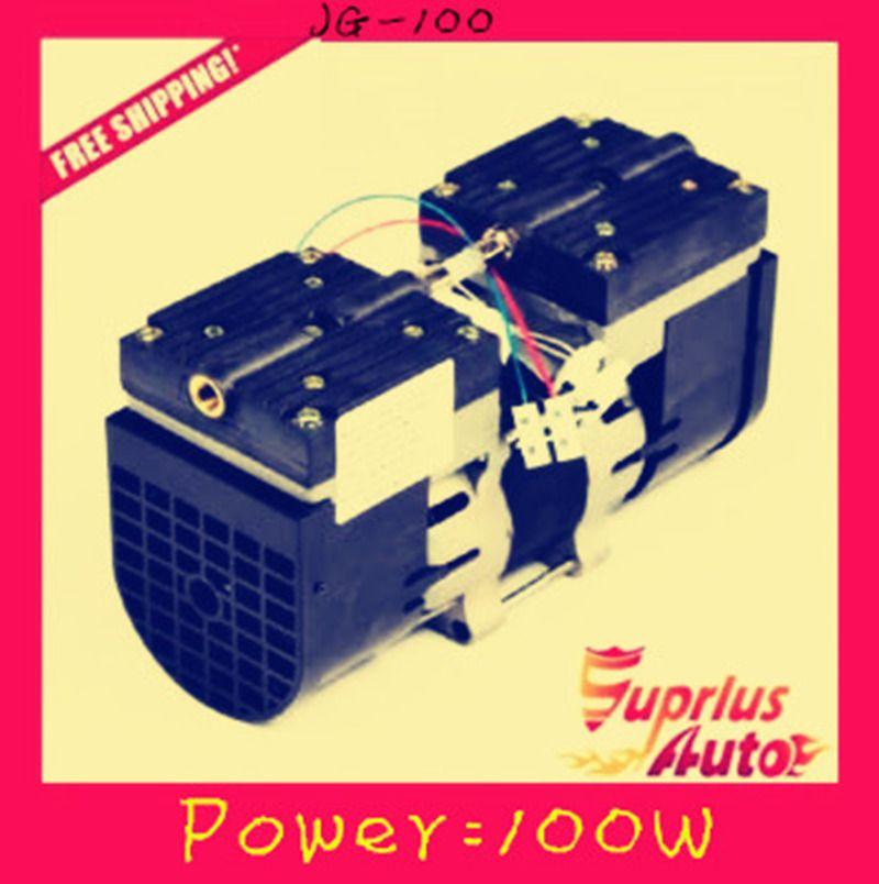 Freies verschiffen 24L/MIN 100 Watt 110 V/220 V (AC) ölfreie membranpumpe 3,6 bar vakuumpumpe JG-100