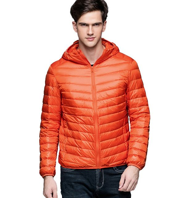 Man Winter Autumn Jacket 90% White Duck Down Jackets Men Hooded Ultra Light Down Jackets Warm Outwear Coat Parkas Outdoors