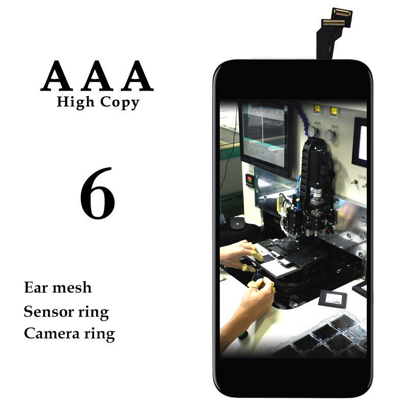 20 pcs pour iPhone 6 6G LCD écran tactile panneau 4.7 ''noir blanc affichage numériseur assemblée téléphone Patalla pièces de rechange