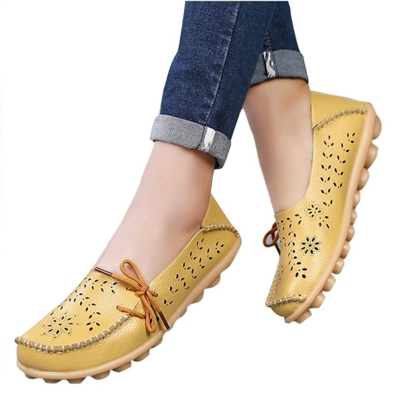 New Arrival Women Flats Shoes Women loafers Ladies Slip on Flats 9 color Genuine Leather Driving Shoes Women Shoes