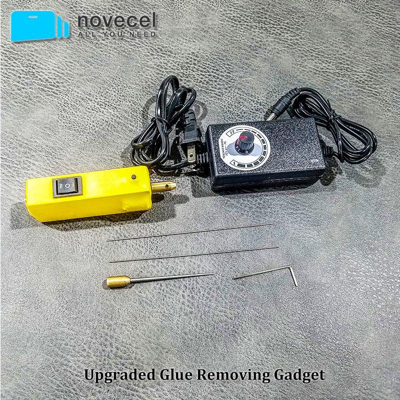 Novecel GR10S Kleber entfernen gadget Mit Einstellbare geschwindigkeit steuerung Keine notwendigkeit zu ändern Nadel Für iPhone/Für Samsung OCA entfernen