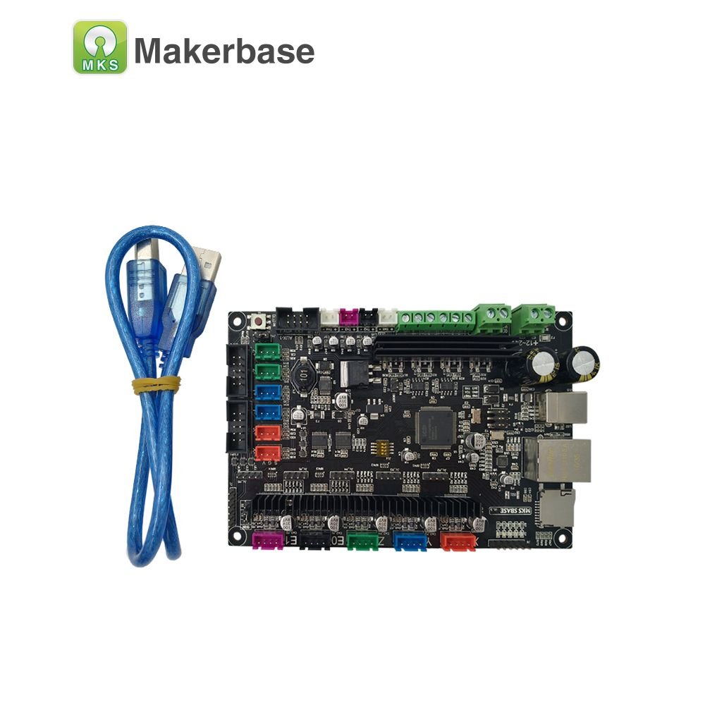CE&RoHS 32bit Arm platform Smooth control board MKS SBASE V1.3 open source MCU-LPC1768 support Ethernet preinstalled heatsink