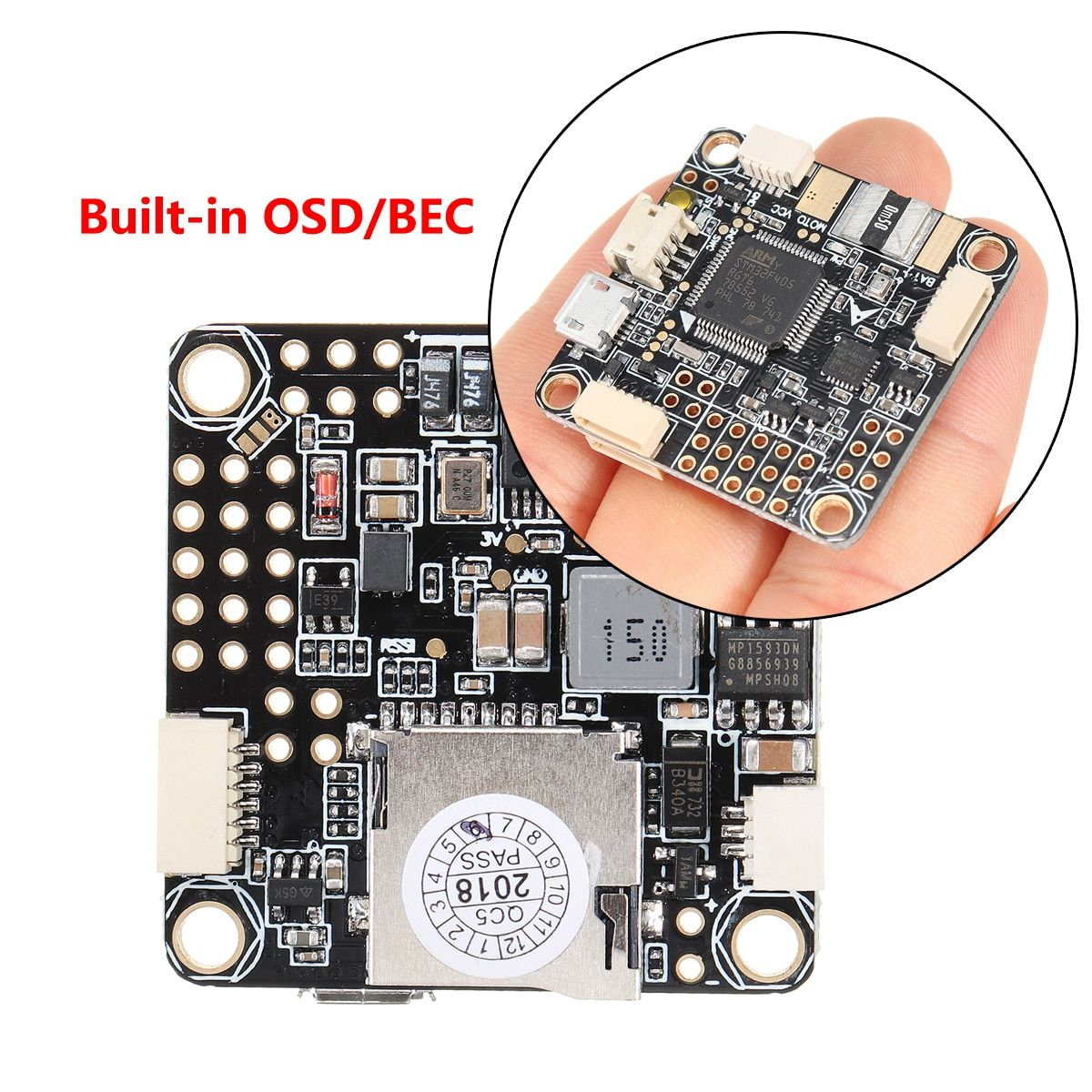 for Betaflight F4 PRO V2 Flight Controller Built-in OSD/BEC Drone Low Noise Stable for FPV Racing Upgraded Latest