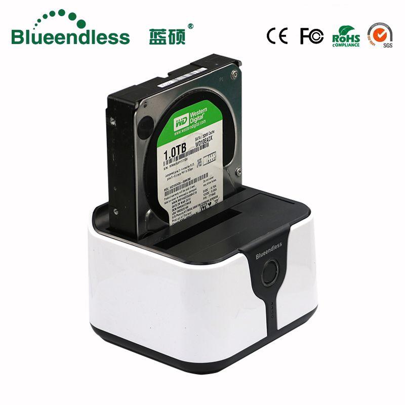 Boîtier bluetooth Sata USB 3.0 boîtier hd externo 2 baies boîtier hd double hdd boîtier sata vers usb boîtier de disque dur externe hdd station d'accueil