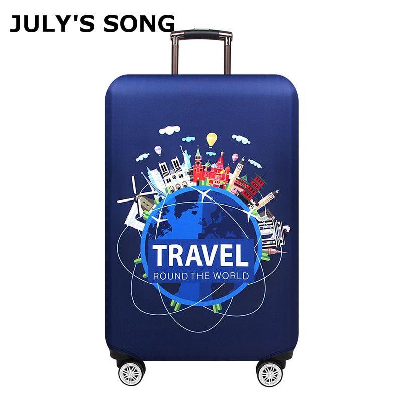 JULY'S SONG Thicken Luggage Cover 18-32 Inch Case Suitcase Covers Trolley Baggage Dust Protective Case Cover Travel Accessories