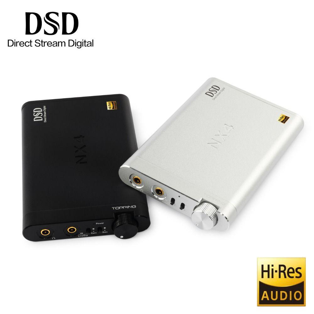 NEW Topping NX4 DSD XMOS-XU208 Chip DAC ES9038Q2M Chip Portable USB DAC DSD Decoder Amplifier Headphone AMP Amplifier