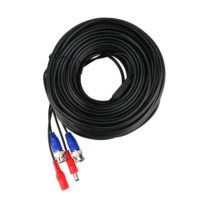 H. вид 30 м 100ft CCTV кабеля BNC и DC разъем видео Мощность кабель для проводной AHD Камера и dvr Товары теле- и видеонаблюдения системы Интимные аксессу...