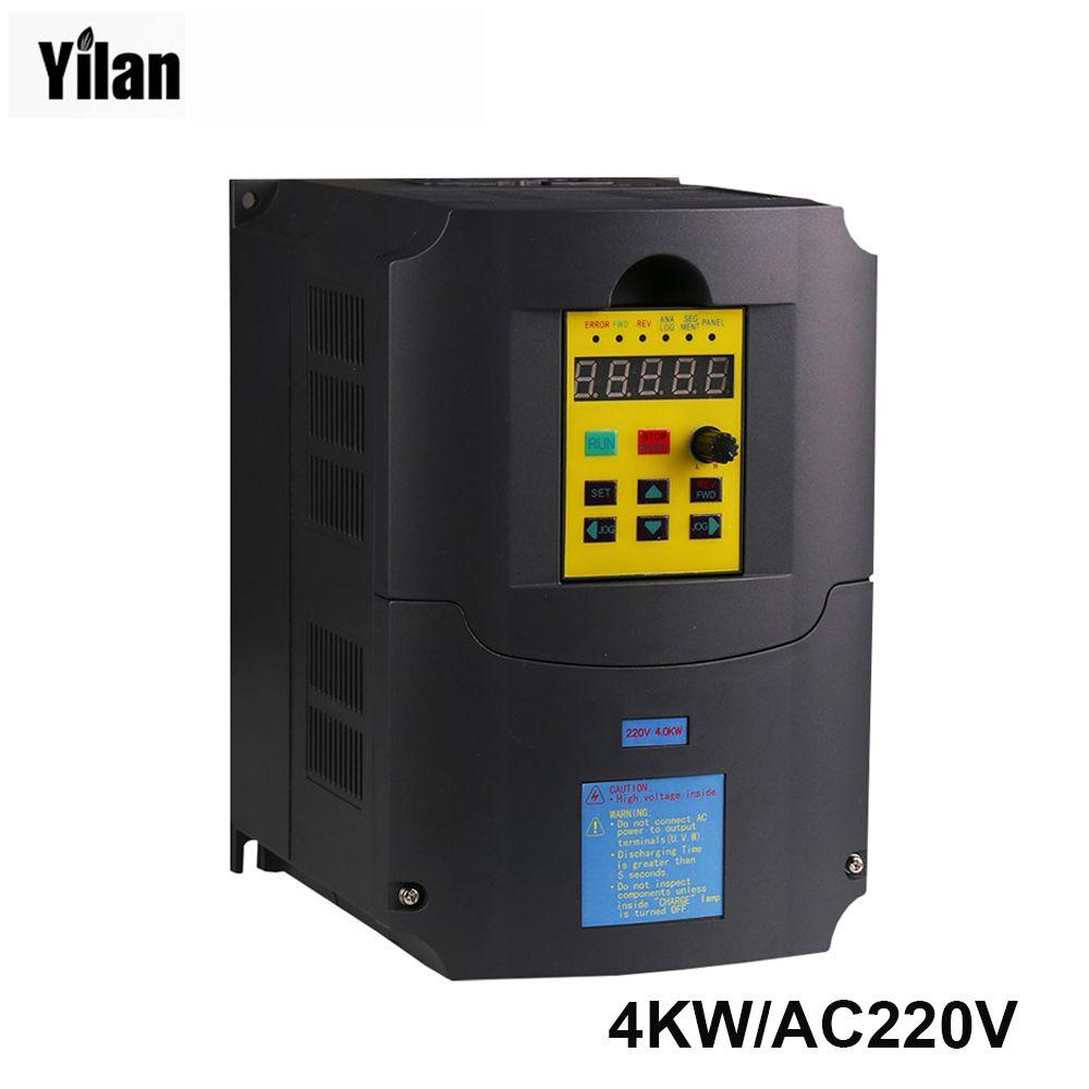 Instruction russe! CE 220 v 4kw 1 phase d'entrée 220 v 3 phase sortie fréquence convertisseur/ac motor drive/ac lecteur/VSD/VFD/50 HZ