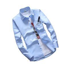 2018 nouveau arrivent Hommes à manches longues chemise multiples options de couleur Confortable chemise pour Homme taille M-2XL