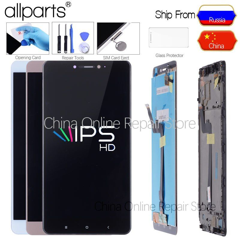 Original Display For Xiaomi Mi Max LCD Touch Screen Digitizer with Frame for Xiaomi Mi Max Display Screen Replacement Mi Max 1