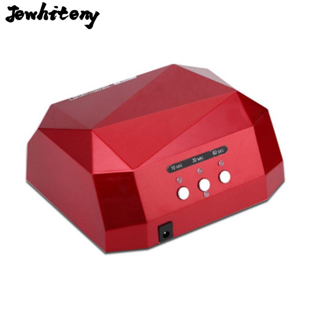 36W UV LED Lamp Nail Dryer Diamond Shaped LED Nail Lamp Curing for UV Gel Nails Polish Nail Art Tool Sun led light