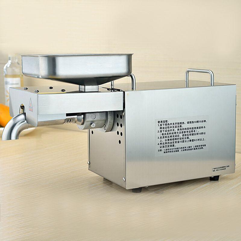 VOSOCO Prensatelas Aceite De máquina aceite prensado en frío automático de acero Inoxidable 780 W 220 V eléctrico de aceite prensatelas aceite de semillas de girasol extractor