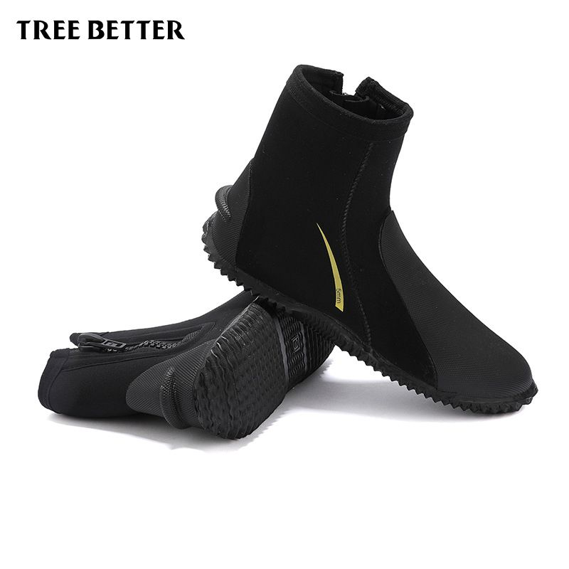 Diving boots 5MM Neoprene Profession Diving Equipment Zipper Swimming flippers Keep warm Swim socks Rubber Shoes for Men Women
