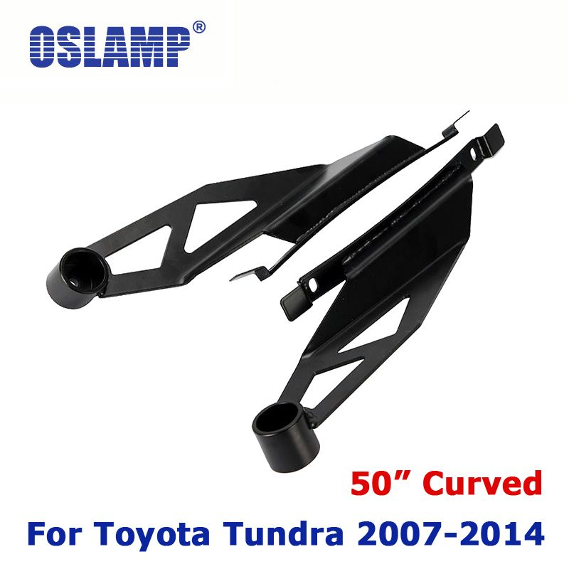 Oslamp for 50 Curved LED Light Bar Refitment Installation Upper Windshield Mounting Brackets For Toyota Tundra 2007~2014