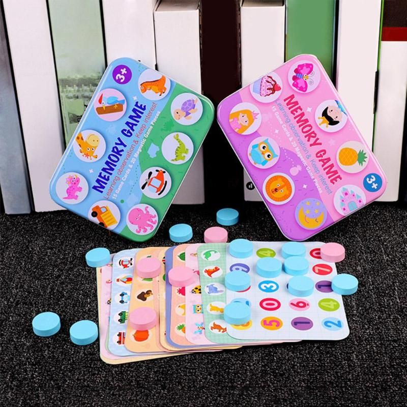 Memory Puzzle Wooden Toy Children Desktop Interactive Memory Game Box Chess Educational Toys