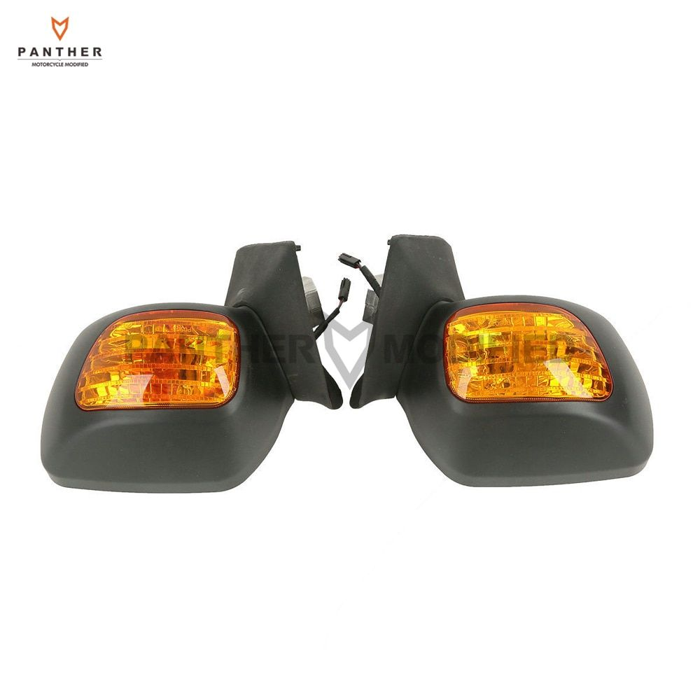 Matte Black Motorcycle Rear View Mirror Turn Signal Light Case for Honda Goldwing GL1800 F6B 2013-2017