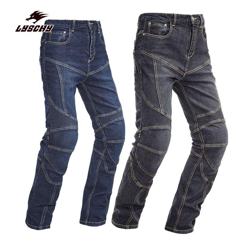2017 New Automobile Men Women PK-718 Slim Denim Jeans Motorcycle Racing Motocross Moto Pants Jeans With 4 Protector Pad S-3XL