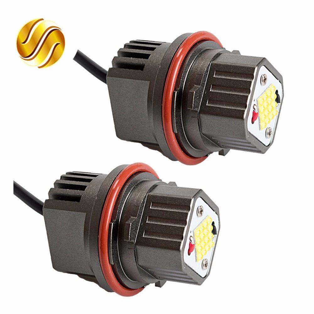 flytop CANBUS Error Free 2*80W 160W LED Marker Angel Eyes for CREE LED Chips 9-32V White for E39 E53 E60 E61 E63 E65 E87 (1 Set)